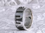漢字を掘下げた指輪