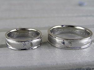 三日月と星の結婚指輪