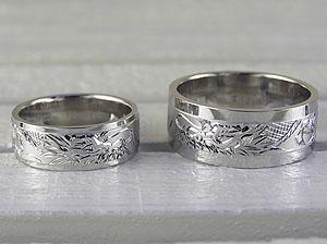 竜を彫った平打ちの指輪