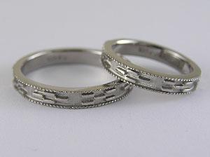 ミンサー柄の指輪