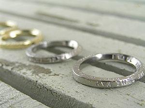 ホワイトゴールドとイエローゴールドの結婚指輪