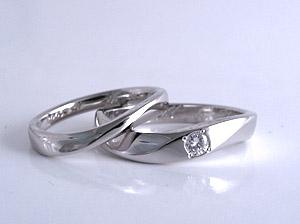 こちらがセットで作った結婚指輪