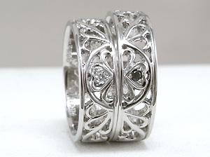 透かしで四葉の指輪