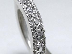 彫留風の結婚指輪