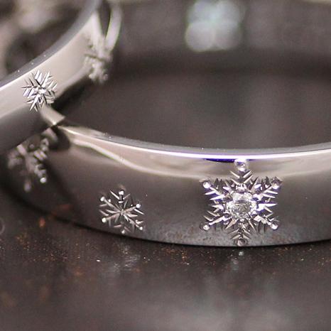 繊細な雪の結晶